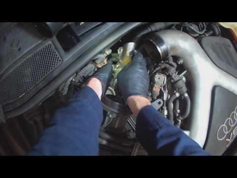 Audi C5: 27LT A6 Coolant temperature sensor replacement