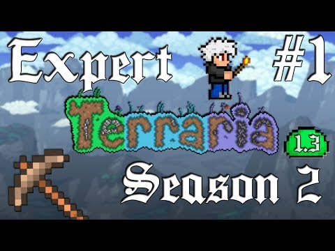 Expert Terraria 1.3 S2 - #1: Mining Exploration In a Brand New World!