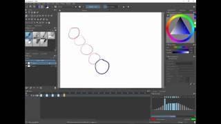 Basic animation in Krita 3