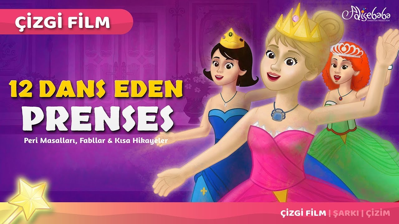 12 Dans Eden Prenses çizgi film masal 22 | Adisebaba Çizgi