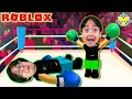 Ryan Vs Daddy! RYAN LEARNS TO BOX IN ROBLOX! Let's Play Roblox Boxing League!