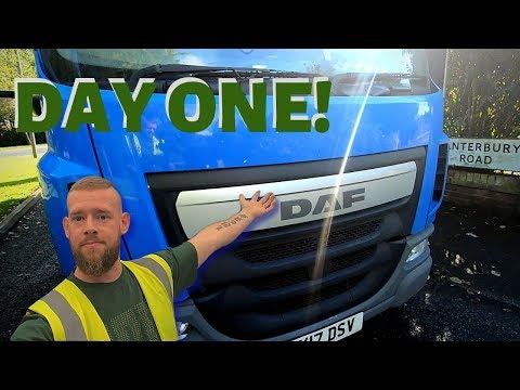 My FIRST DAY In A HGV!