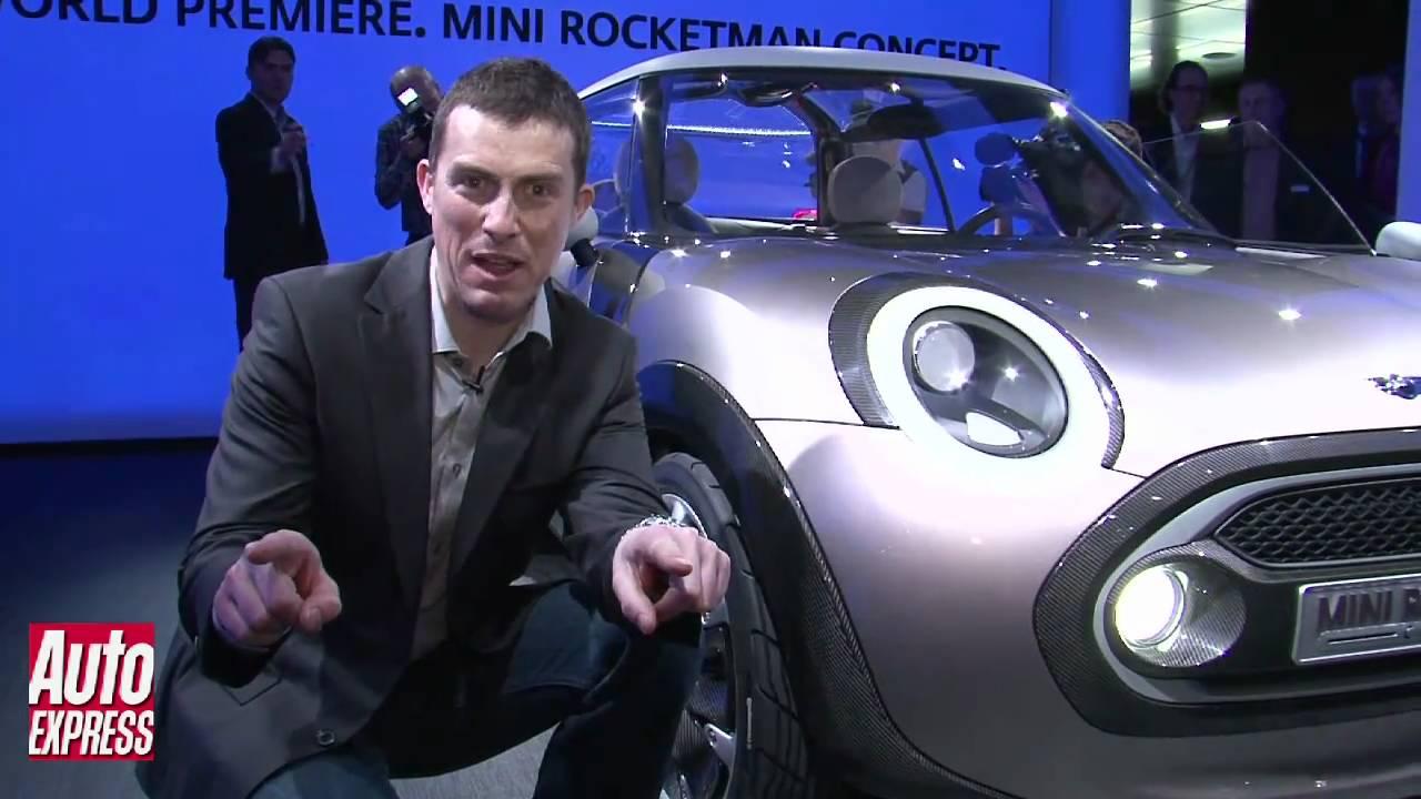 New Mini Rocketman Concept Geneva Motor Show Auto Express Youtube