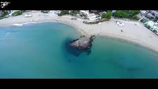 Playa Platja de La fosca, Palamós, Girona a vista de Dron Drone