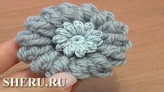 How To Crochet Button Урок 1 Как связать крючком пуговицу, полный урок