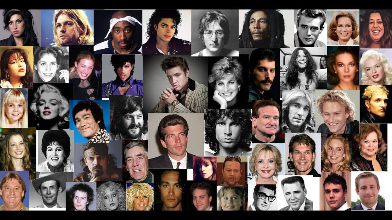 Pt 1 of 3 JFK Jr, ELVIS, LENNON, DIANA, MJ, MORRISON, MARLEY, MERCURY, PRINCE, COBAIN, TUPAC more !!