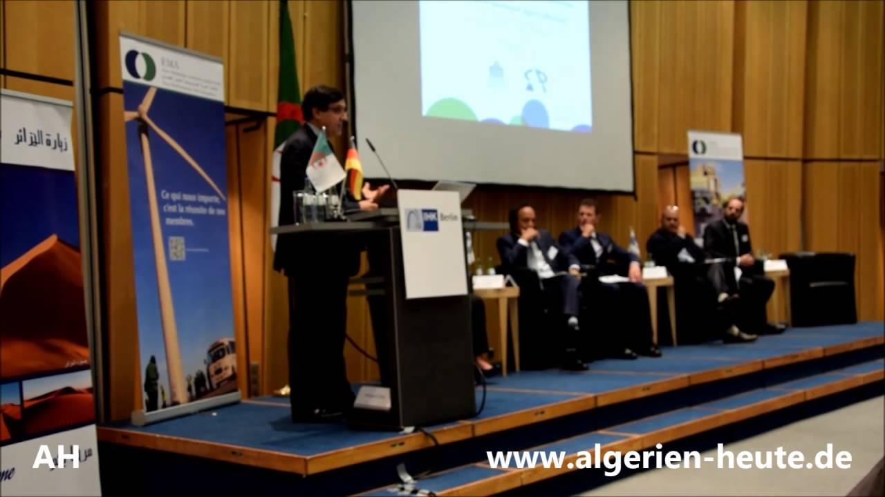 Herr Mohamed Chami, CACI-Generaldirketor zum 3. deutsch-algerischen Wirtschaftsforum IHK Berlin