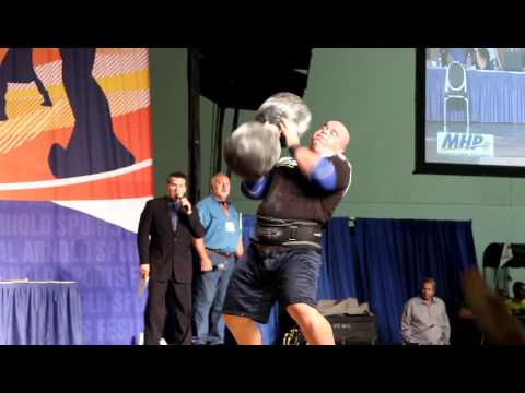 Mike Jenkins - Arnold Classic Professional Strongman 2012 - 250 Pound Dumbbell Press Record