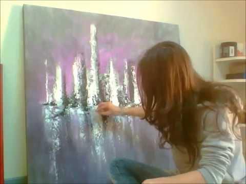 Peinture acrylique 5 audrey claire youtube for Peinture acrylique