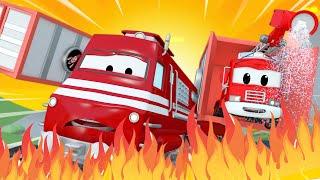 Zug für Kinder -  Frank das Feuerwehrauto 3  - Troy der Zug in Car City