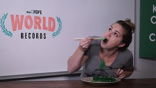 Chive World Records: Eating JELL-O with Chopsticks