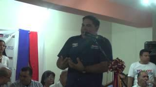 Palabras de Ronald Aguilar, alcalde de Socopó, en el acto de UNT y AP
