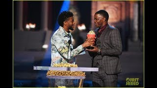 Chadwick Boseman Gives His MTV Award for Best Hero to a Real-Life Hero!
