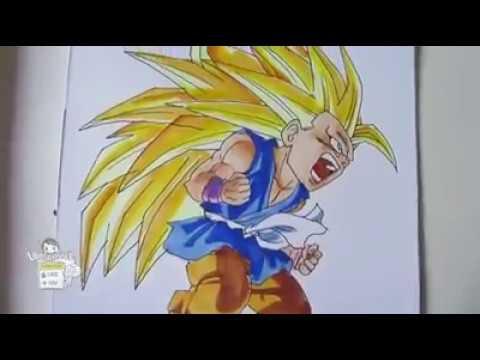 Aprenda A Desenhar O Goku Crianca Super Sayajin Nivel 3 Metodo