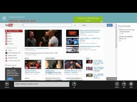 YouTube Downloader For Windows 8  Metro Application
