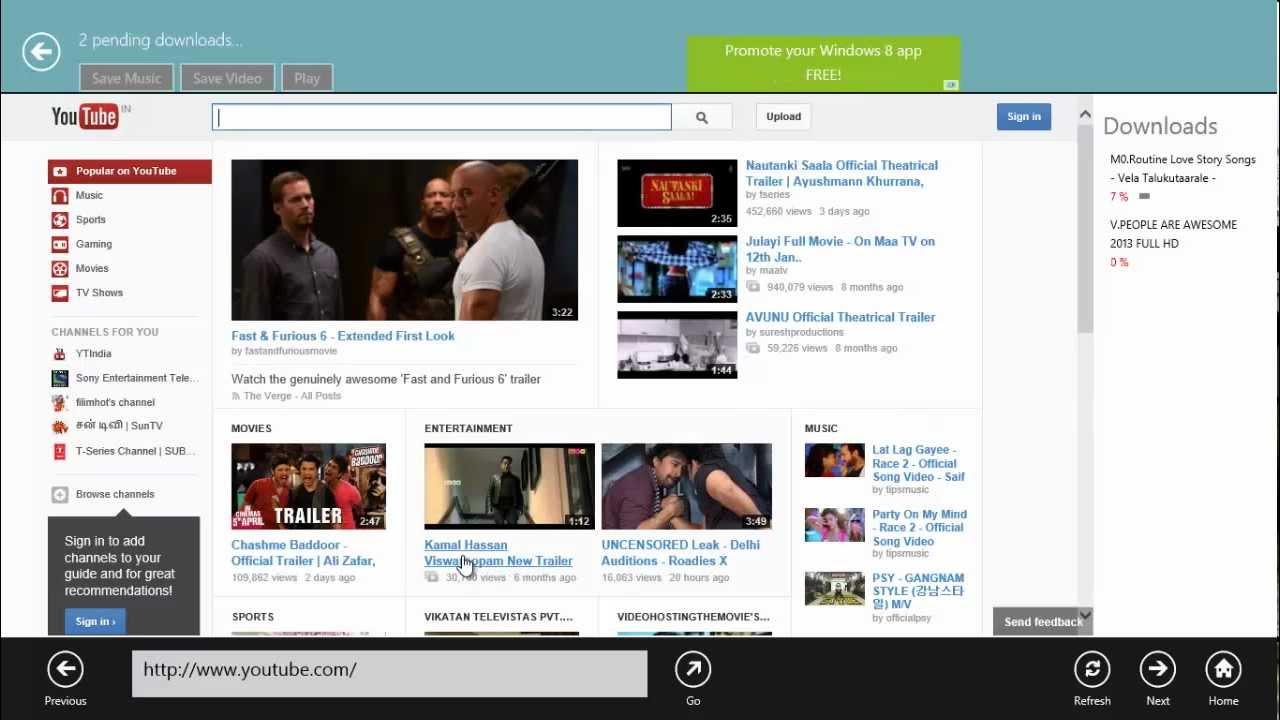 YouTube Downloader for Windows 8 Metro application - YouTube