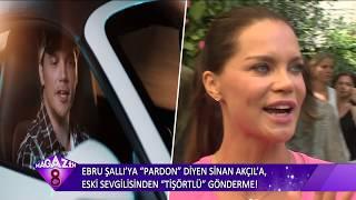 Ebru Şallı'ya Pardon Diyen Sinan Akçıl'a Ebru Şallıdan Gelen T-shirtlü Gönderme