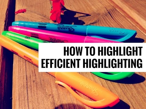 How to Highlight // Efficient Highlighting