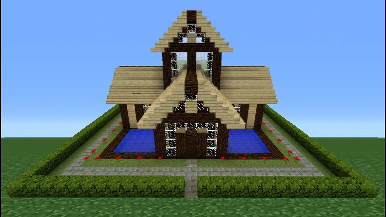 Minecraft tutorial how to make a wooden house 8 youtube - How to make a wooden house ...