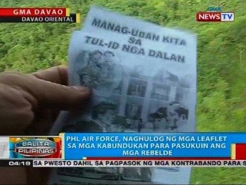 PHL Air Force, naghulog ng mga leaflet sa mga kabundukan para pasukuin ang mga rebelde