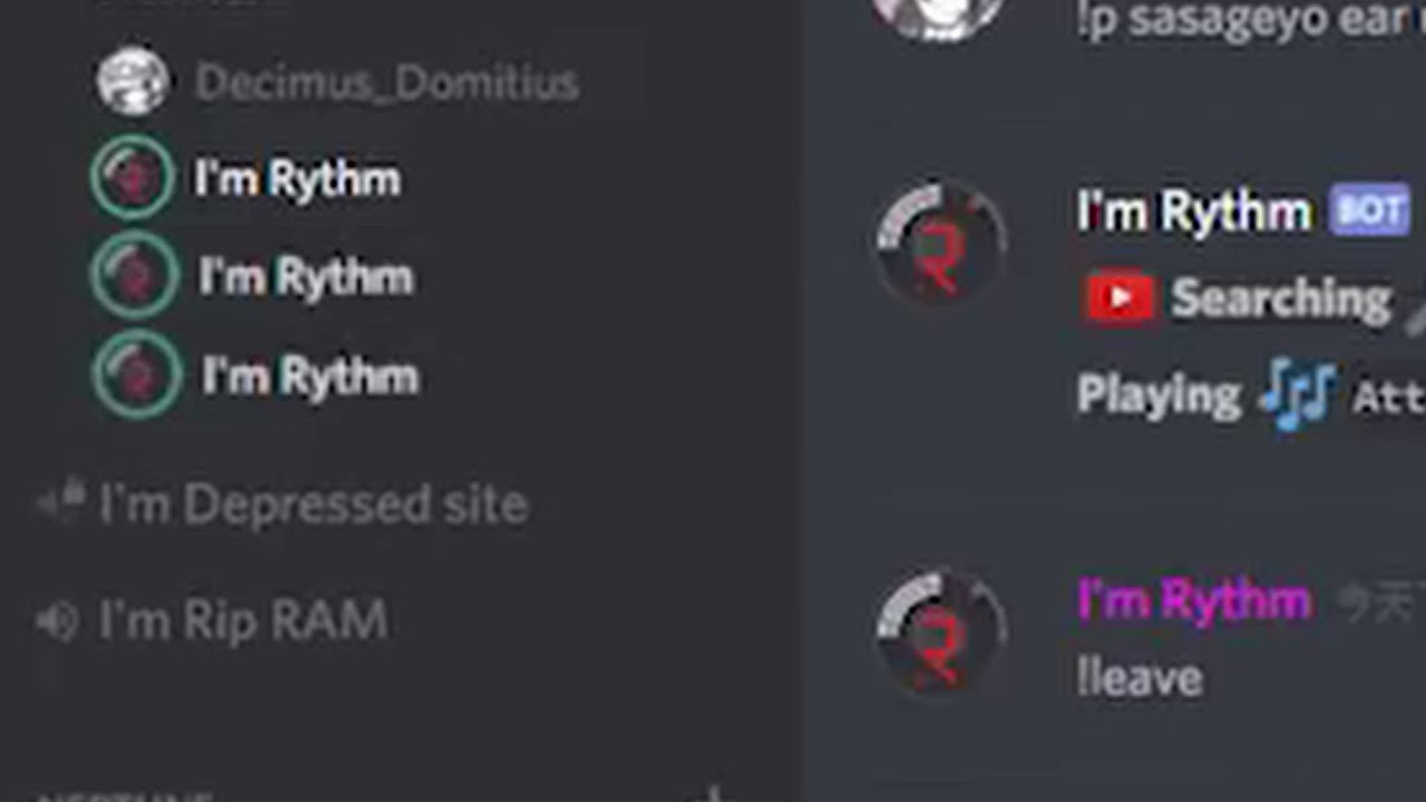How to rythm bot in discord
