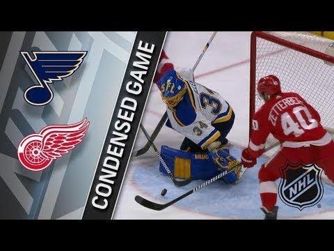 NHL St. Louis Blues VS Detroit Red Wings Highlights/ HХЛ Детройт VS Сент-Луис Обзор матча