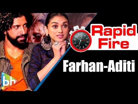 Wazir Stars Farhan Akhtar   Aditi Rao Hydari's FUNNY Rapid Fire On Wazir