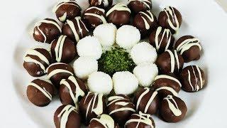 Hindistan cevizli fındıklı çikolata topları - Oğlumla birlikte çikolatalı toplar yaptık