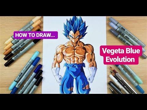 How to draw Vegeta SSj Blue Evolution | Step by Step Tutorial thumbnail