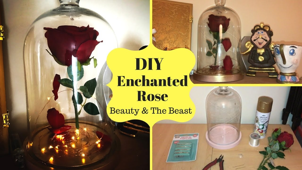 Diy enchanted rose tutorial beauty the beast youtube
