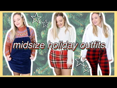 Midsize HOLIDAY Outfits (you Can ACTUALLY Wear)!