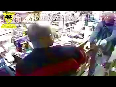 Clerk Goes for His Gun Against Armed Robbers | Active Self Protection