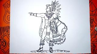 Cómo dibujar un guerrero Maya paso a paso
