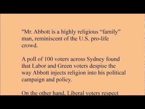 Tony Abbott: The Progressives of America View