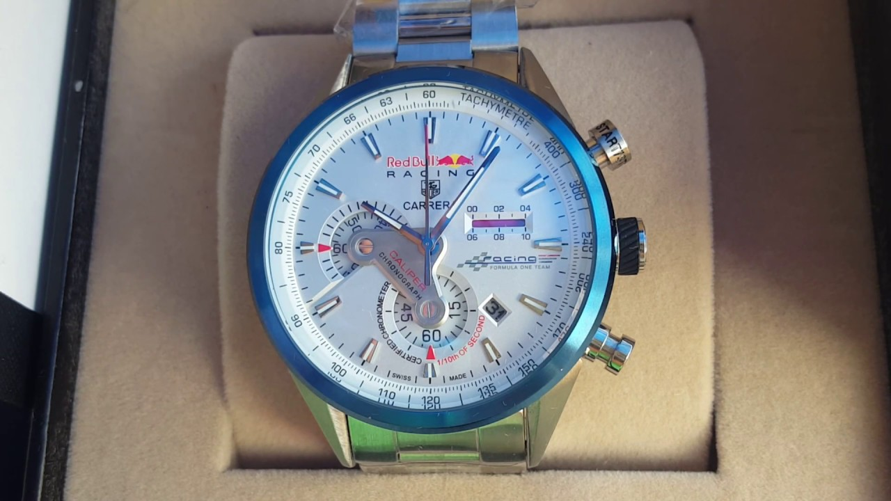 99c3556773c Relógio TAG HAUER RED BULL - RELÓGIOS BSB - YouTube