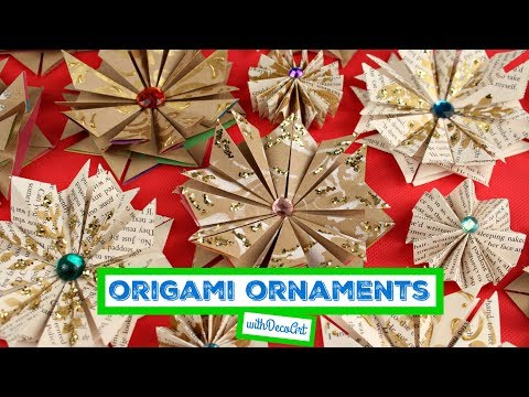 Matte Metallic Origami Star Ornaments