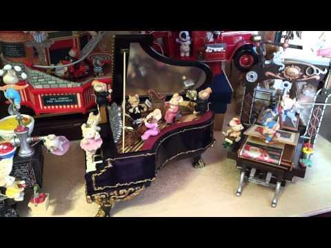 Enesco Music Mice Tro Box pianoforte Carillon