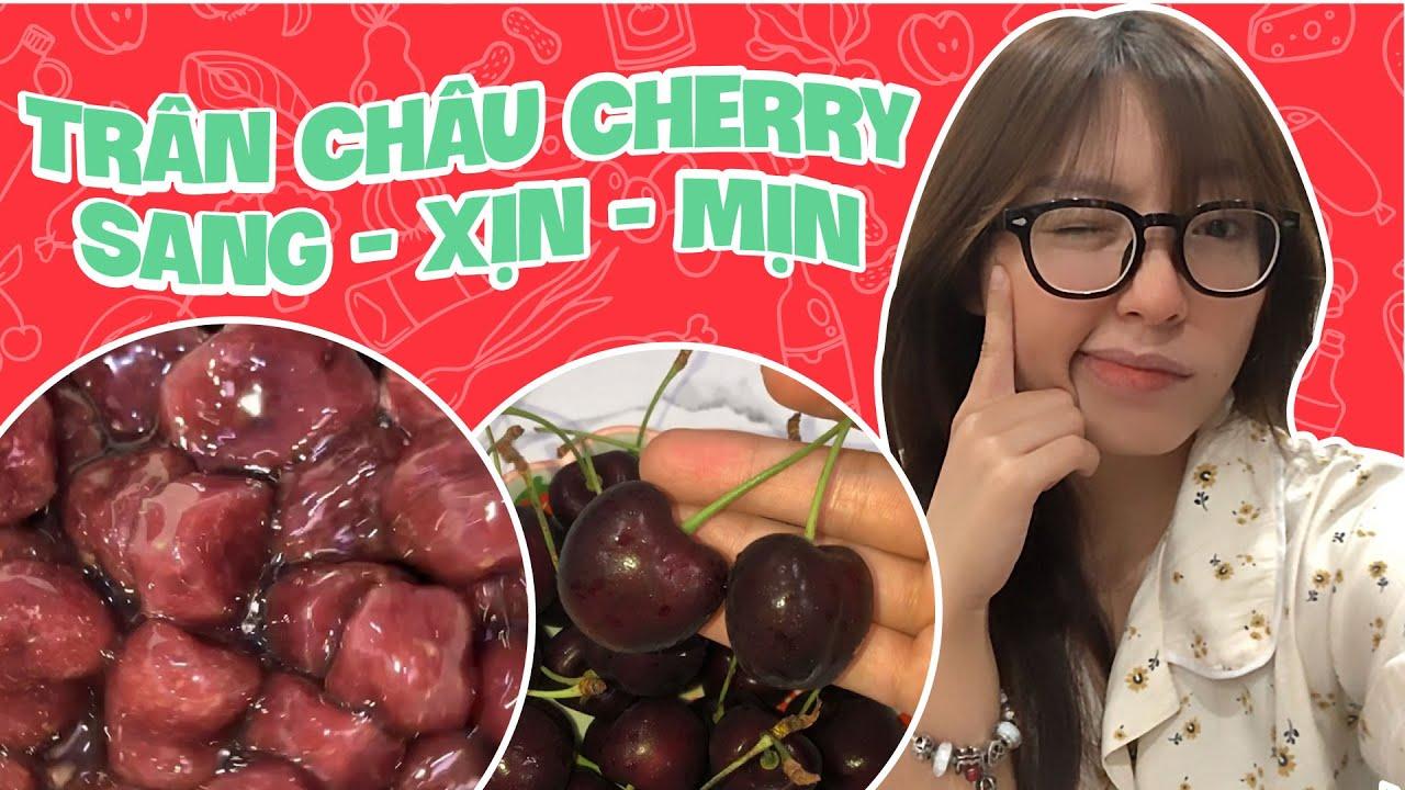 Tự Làm Trân Châu Cherry Sang Xịn Mịn | Pít Ham Ăn | #Shorts