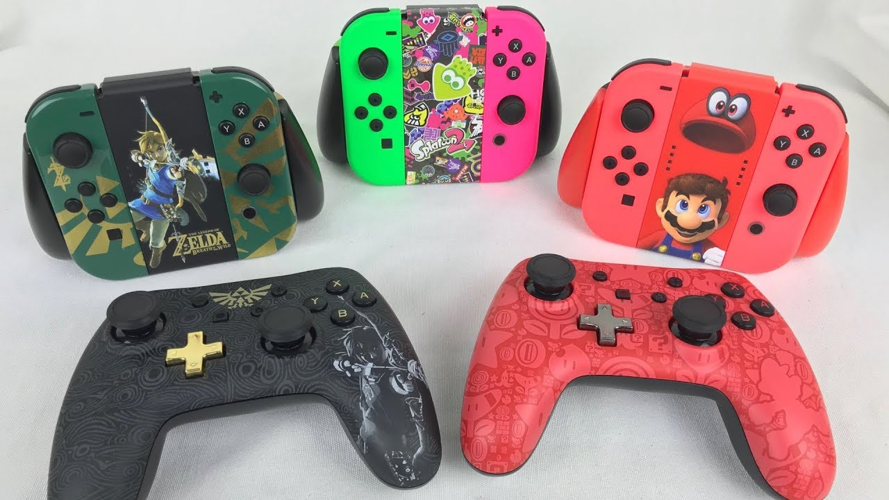 Nintendo Switch PowerA Wired Controllers & Joy-Con Grips