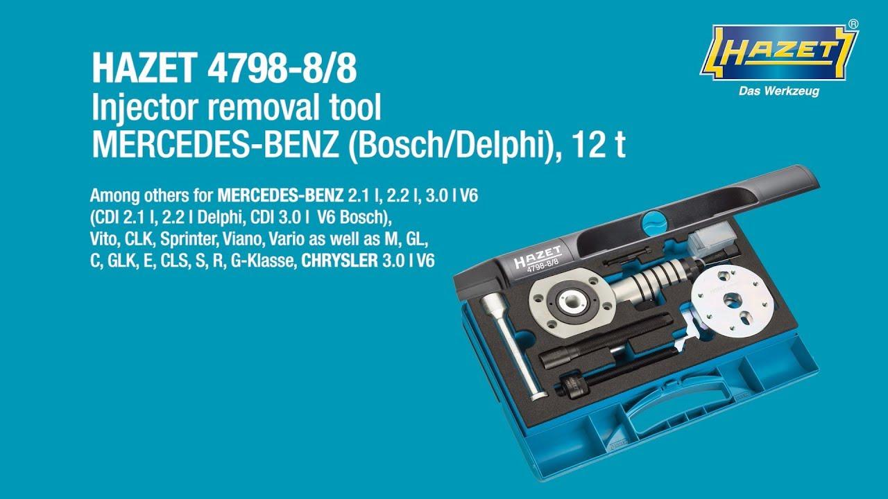HAZET Injector removal tool MERCEDES-BENZ (Bosch / Delphi) 4798-8/8
