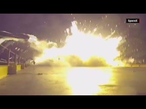 see spacex rocket crash landing
