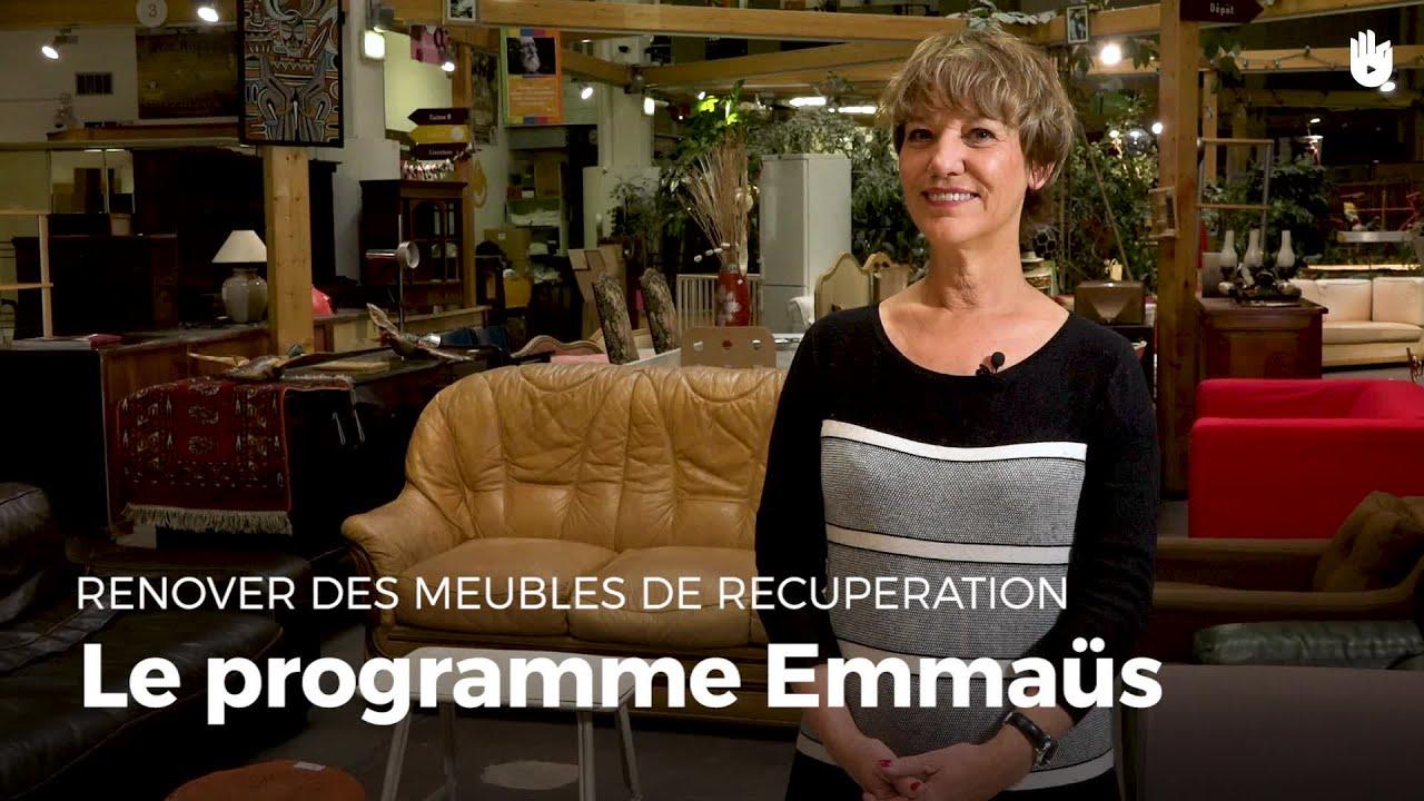 Le Programme Emmaüs  Rénovation De Meubles  Youtube