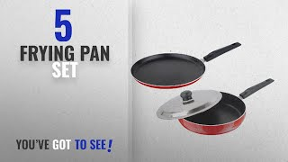 Top 10 Frying Pan Set [2018]: Nirlon Nonstick Aluminium Tawa and Fry Pan Set, 2 Pieces, Red
