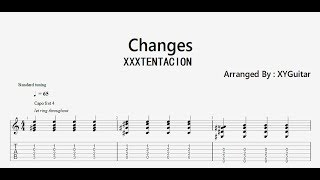 ( XXXTENTACION ) - changes ( Guitar TAB )