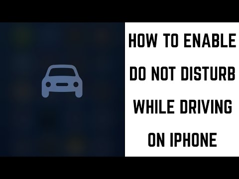 How To Enable Do Not Disturb While Driving On Apple IPhone