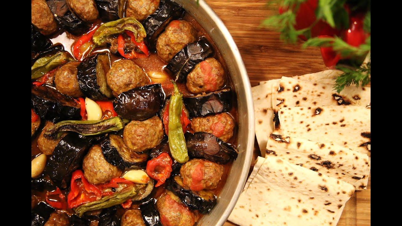Urfa kebab fried eggplants and meatballs armenian for Armenian cuisine