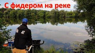 Рыбалка с фидером на реке в июле