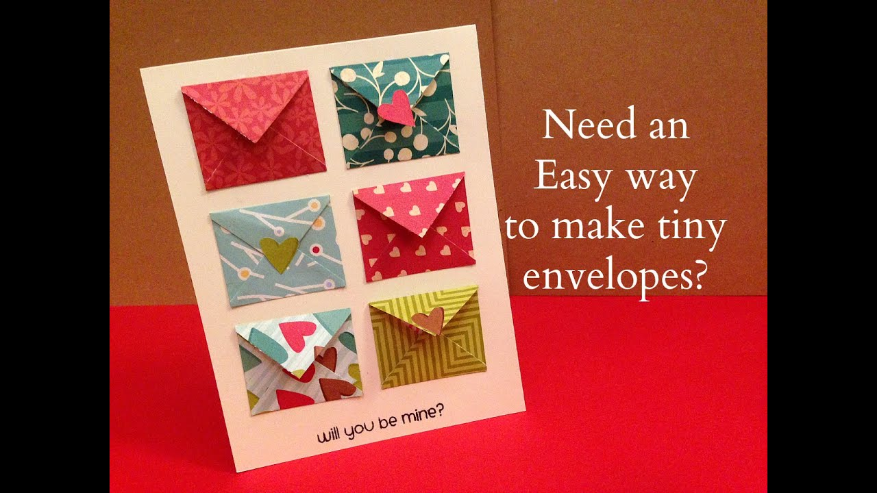 How to make tiny envelope and a card tutorial youtube bookmarktalkfo