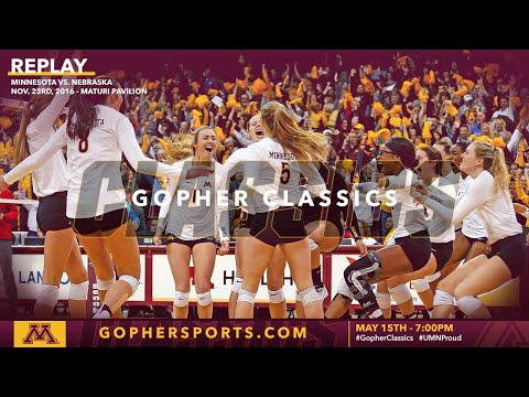 Watch Live: Gopher Volleyball Tops #1 Huskers In 2016 (Gopher Classics)
