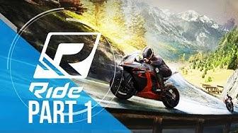 RIDE Gameplay Walkthrough Part 1 - NAKED BIKES (World Tour)